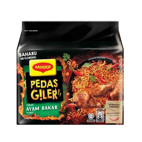 美極 - Pedas Giler系列 馬來烤雞味撈麵 5x76g(平行進口貨)