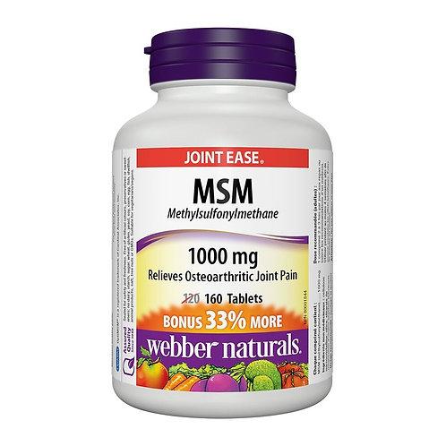 Webber Naturals - 關節健骨寶 MSM 1000 (活絡配方) 160 粒