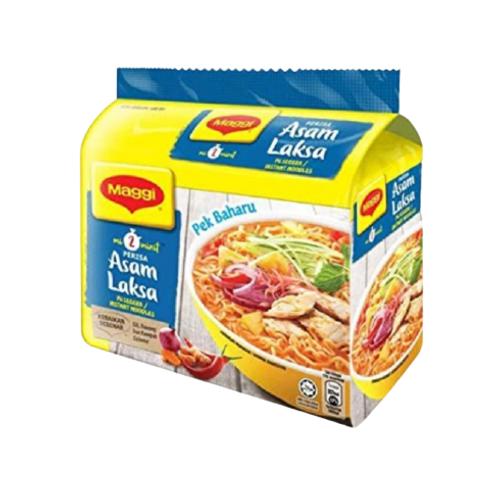 美極 - mi2minit系列 亞參叻沙味湯麵 5x78g(平行進口貨)