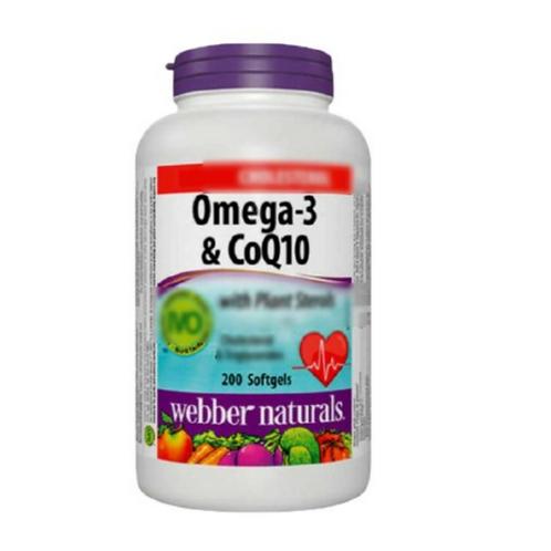 Webber Naturals - Omega-3 & CoQ10 心臟至尊200粒 (平行進口貨)