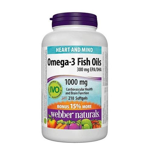 Webber Naturals - Omega-3魚油 1000毫克 210粒