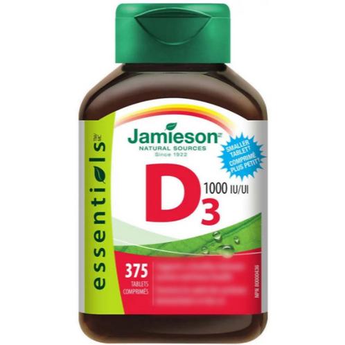 Jamieson - 維他命D3 1000IU 375粒 (平行進口貨)