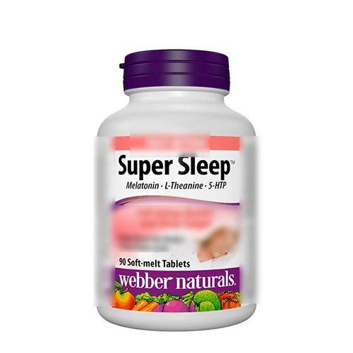 Webber Naturals - Super Sleep超級睡眠配方90粒軟溶片安神助睡眠 (平行進口貨)