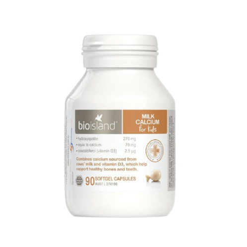 BioIsland - 兒童乳鈣軟膠囊 90粒 (平行進口貨)