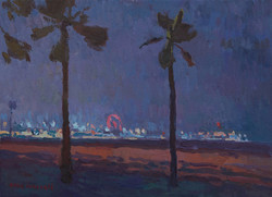 Santa Monica Pier Nocturne
