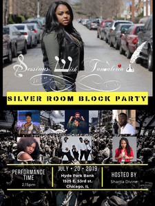 Catch us tomorrow at the Silver Room Block Party performing Live! We have an awesome performance plan meet us at the Hyde Park Bank on 53rd at 2pm!