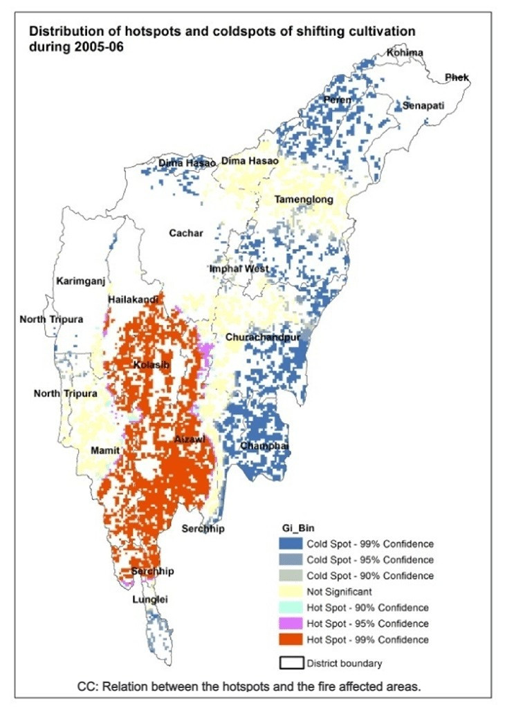 CC: Relation between the hotspots and the fire affected areas. (source: researchgate)