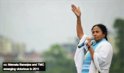 Mamata Banerjee and TMC emerging victorious in 2011