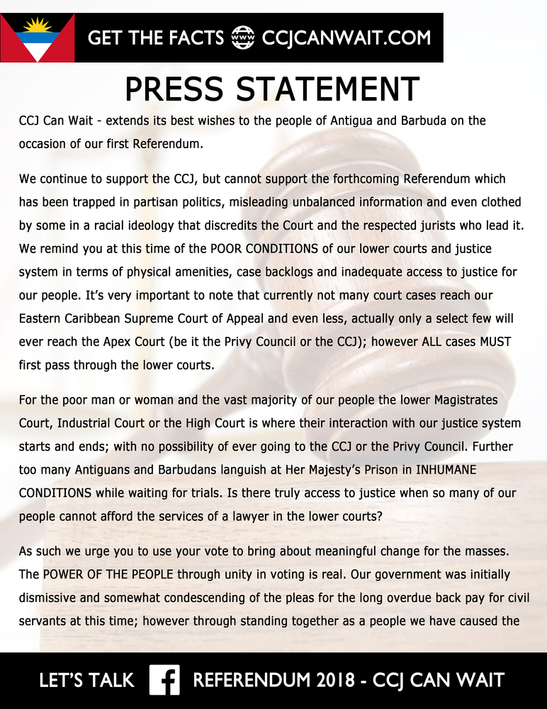How To Pay A Ccj >> Press Statement Ccj Can Wait