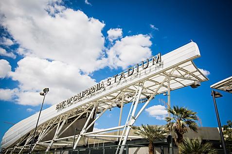 Banc of California Stadium LAFC sign