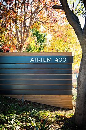 Atrium San Diego monument sign