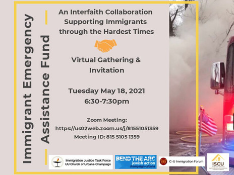 Immigrant Emergency Assistance Fund Virtual Gathering