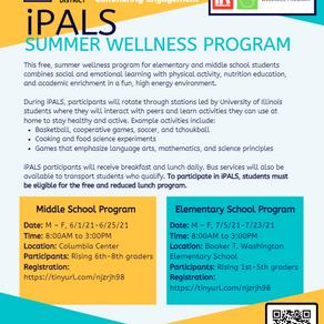 Summer Wellness Program and Online Registration for 2021-2022 School Year