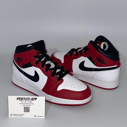 Nike Air Jordan 1 Mid Chicago 'White Heel'