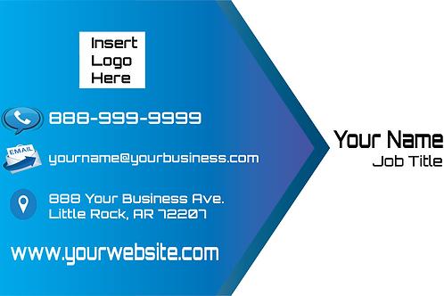 Sleek Blue Business Card