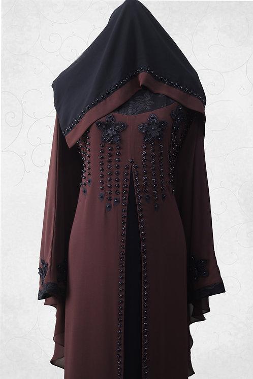 Abaya with Black Stone