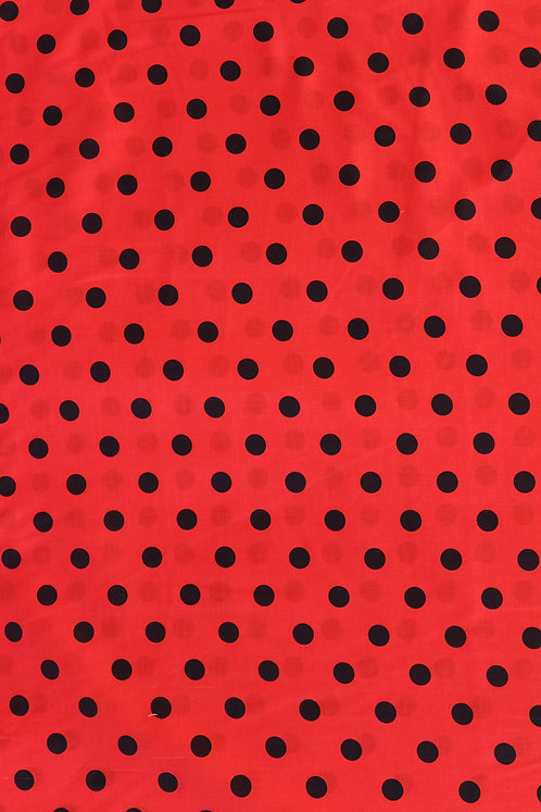 Staple Cotton Red with Dot Pattern