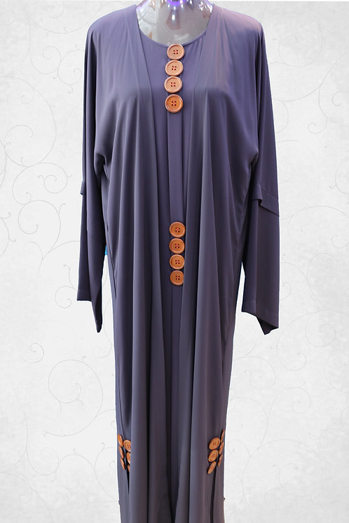 Open Abaya with Embroidery Work