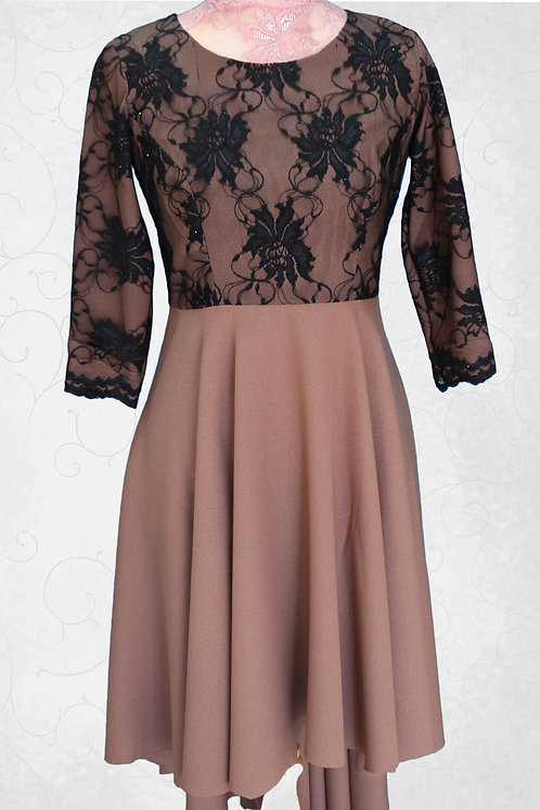 Short Dress with Neck Work