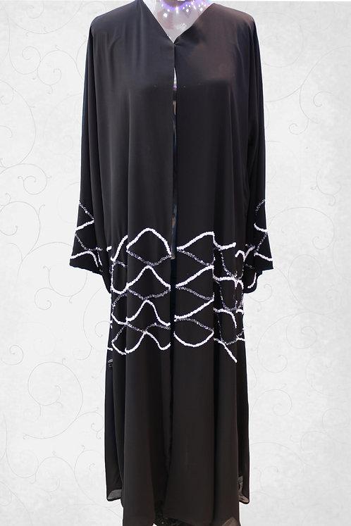 Abaya with Embroidery Work