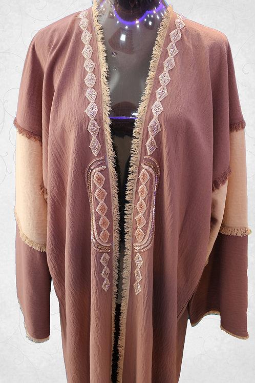Open Abaya with Hand Work
