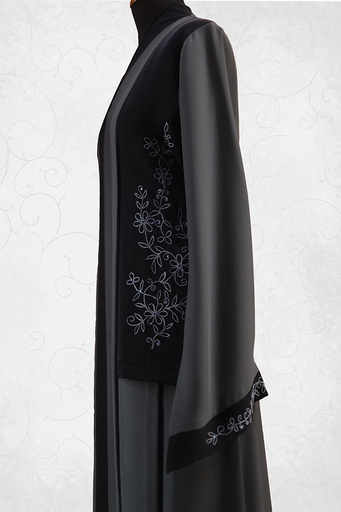 Abaya with Floral Embroidery