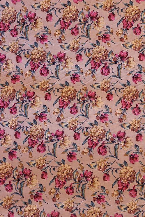 Premium Cotton Sand Color with Flower Pattern