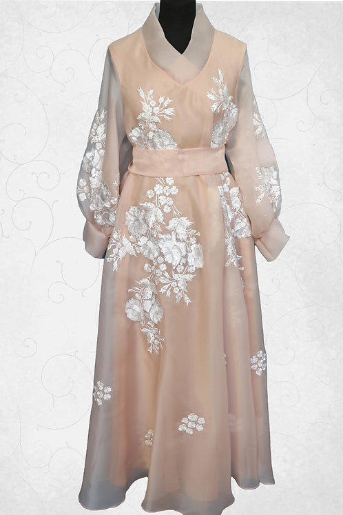 Dress with Embroidery Work & Belt
