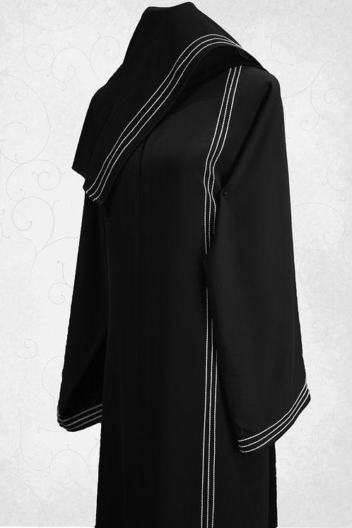 Abaya with Line Embroidery