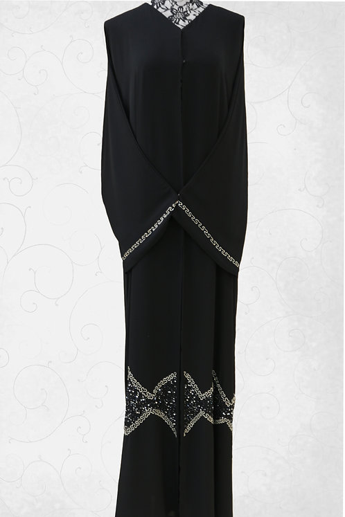 Abaya with Butterfly Under & Hand End Design