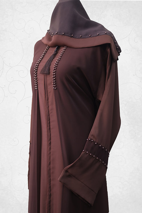 Abaya with Pearl Work