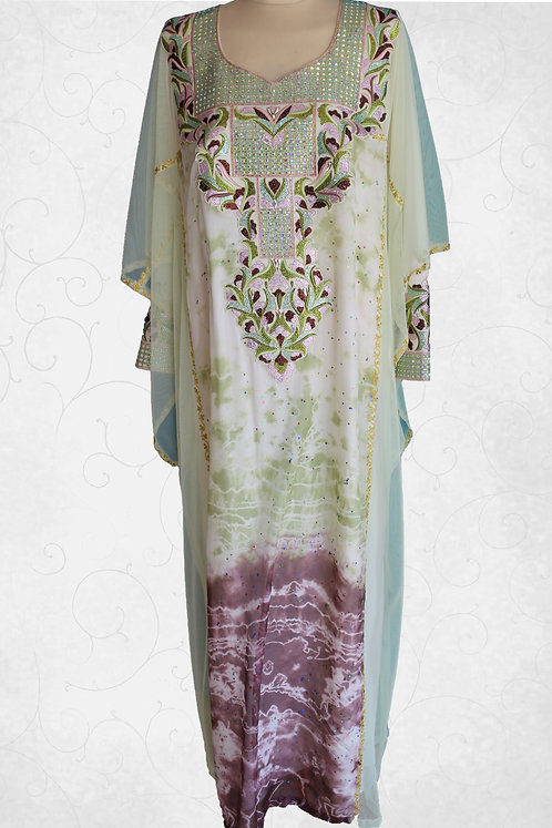 Moroccan Kandoora with Neck Top Embroidery