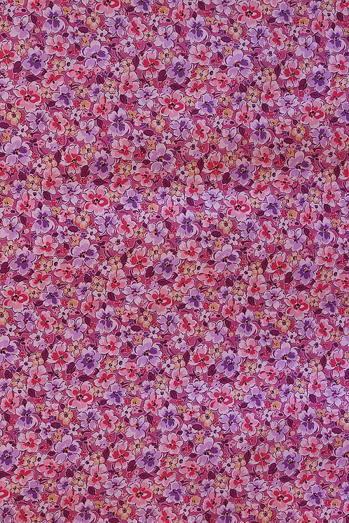 Premium Cotton Pink with Flower Pattern