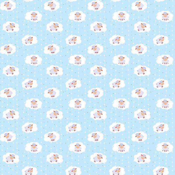 Овечки на голубом 18784-2