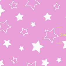 7957-1 звездочки розовые