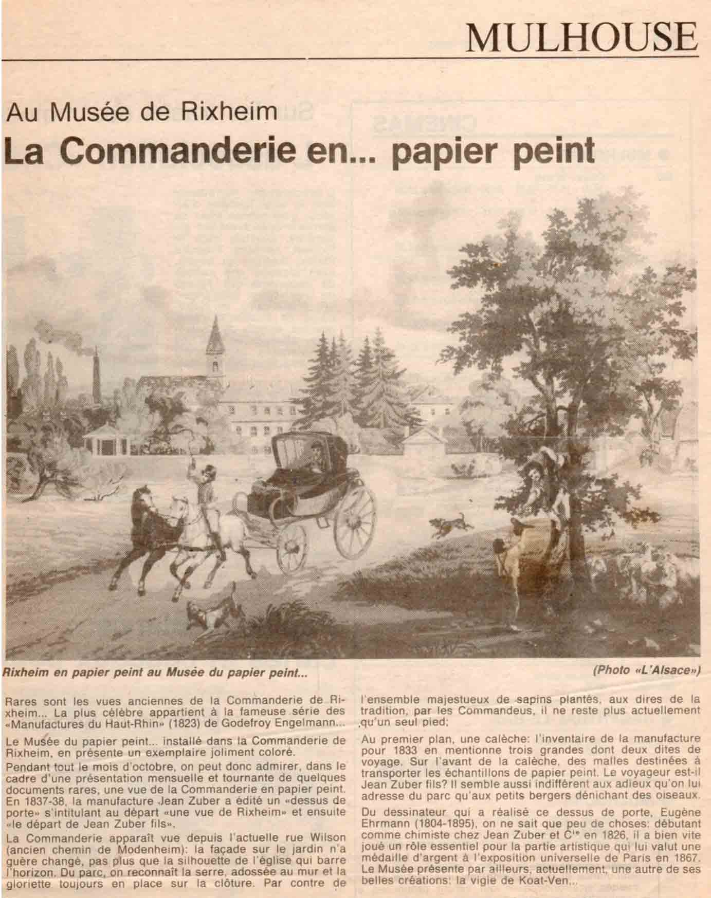 Article sur la Commanderie