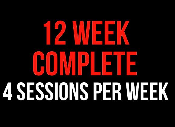 12 Week Complete (4 Sessions Per Week)
