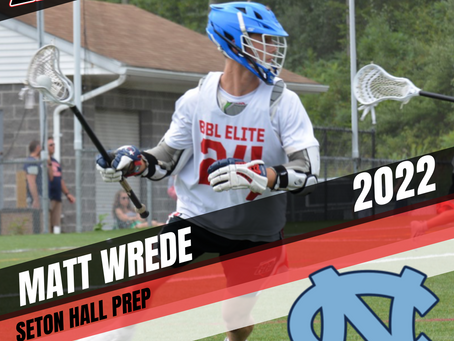 PLAYER SPOTLIGHT: MATT WREDE (22') COMMITS TO UNIVERSITY OF NORTH CAROLINA