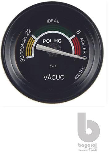 VACUÔMETRO 52MM W06001P 0-30POL/HG WILLTEC