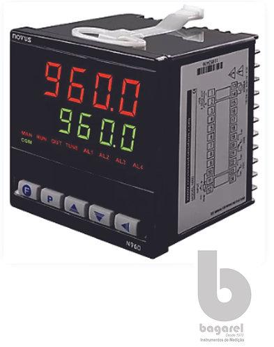 CONTROLADOR DE TEMPERATURA N960D USB TC/PT100 RELÉ/PULSO/4-20 mA 8096200020