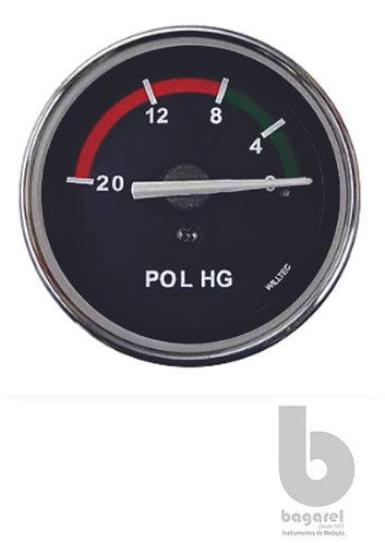 VACUÔMETRO 60MM W06008 0-20POL/HG WILLTEC