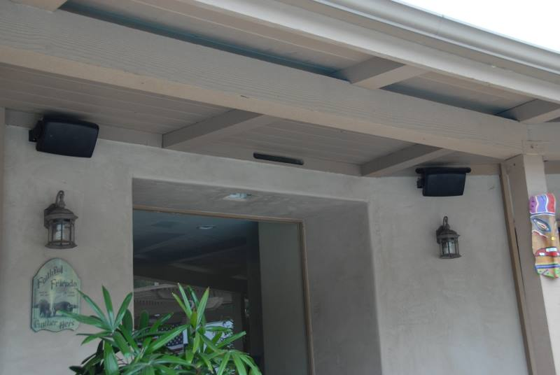 Local Outdoor Speaker Install
