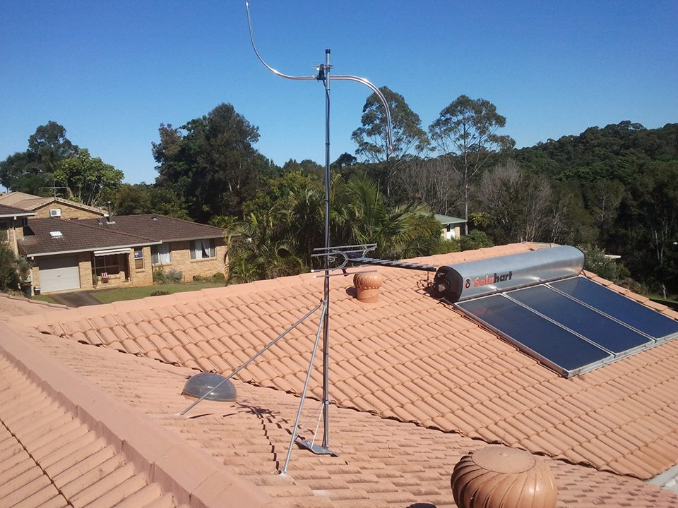 Tile Roof TV and FM Antenna Install