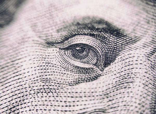 Dollar Bill face All Seasons Insurance