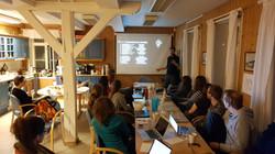 Fabio presenting the SZI project