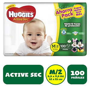 HUGGIES MEDIANO X 100