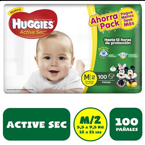 HUGGIES MEDIANO X 100