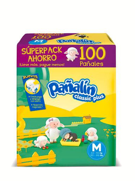 PAÑALIN CLASSIC PLUS MEDIANO X 100