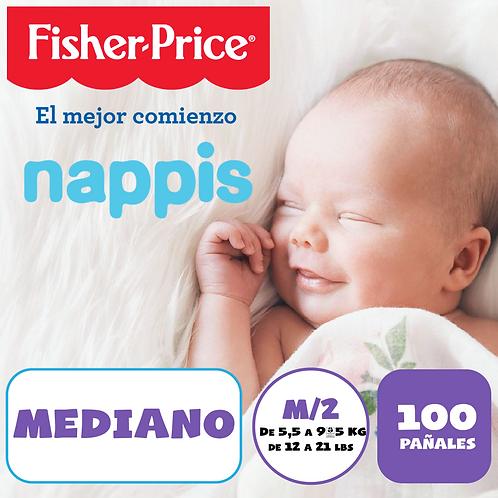 NAPPIS FISHER PRICE M X 100