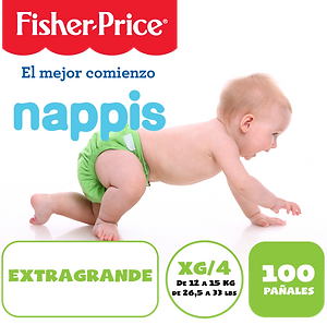 NAPPIS FISHER PRICE XG X 100